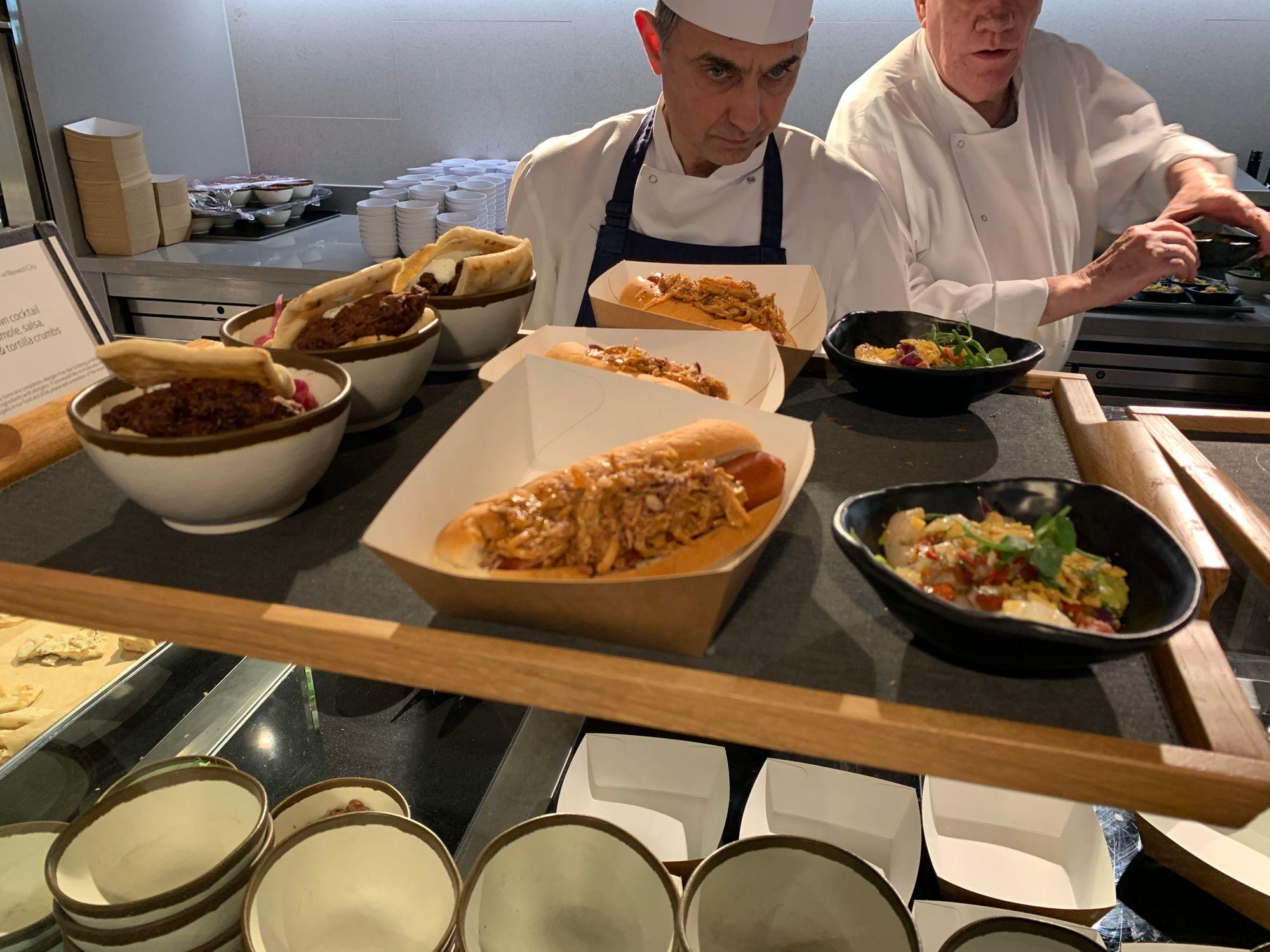 Chef's preparing meals