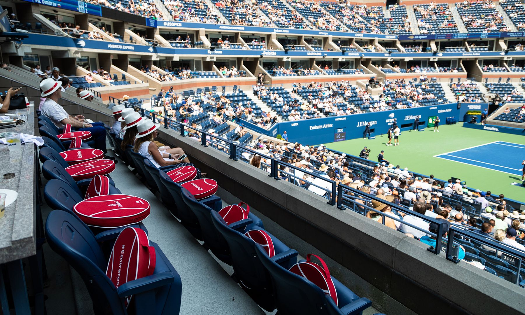 Go inside two US Open VIP suites