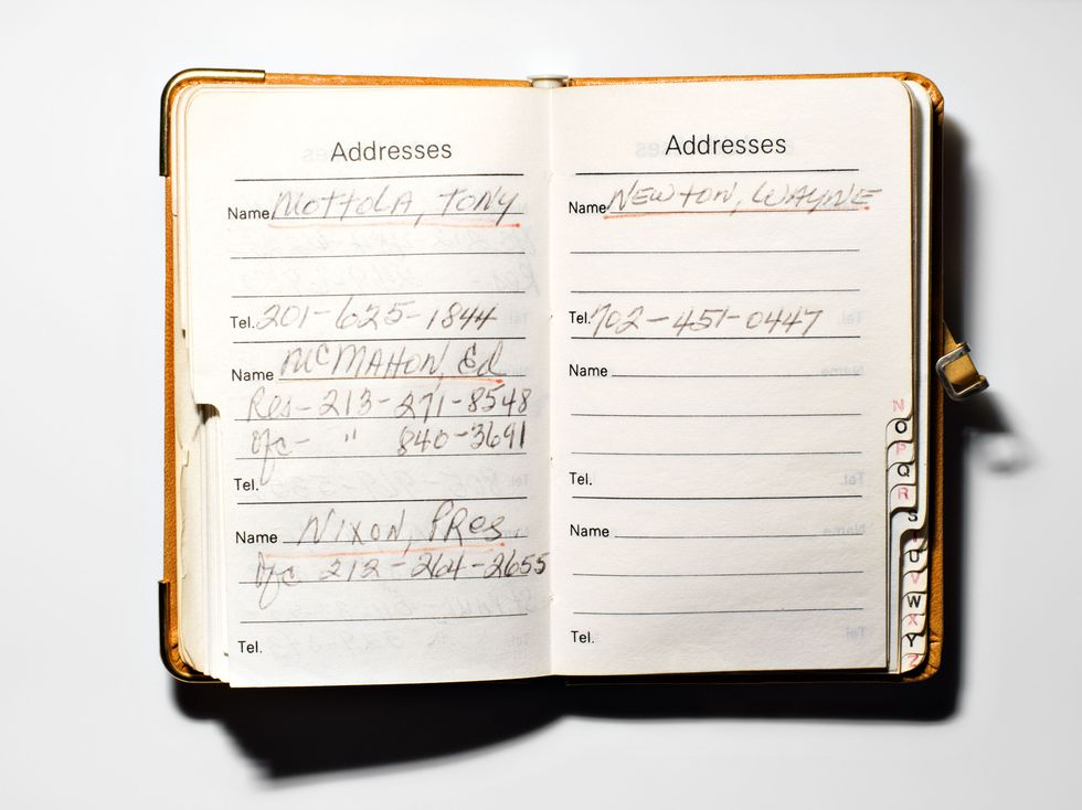 The coolest address book in all of music? That would have to be Frank Sinatra's