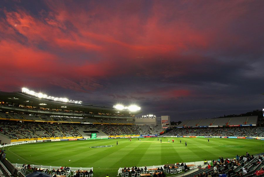 Cricket at Eden Park at night