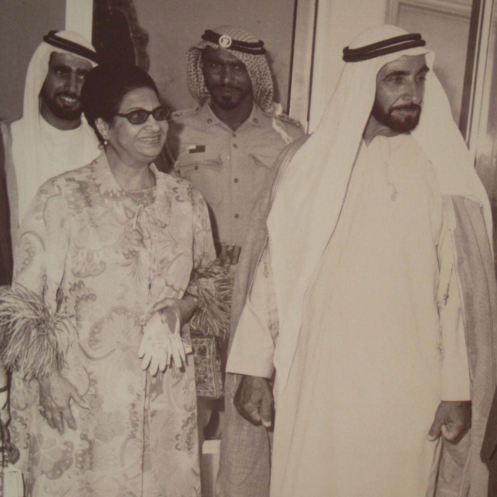 Umm Kulthum with Sheikh Zayed bin Sultan Al Nahyan