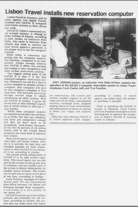 Newspaper clipping, Judy Jordan Delta