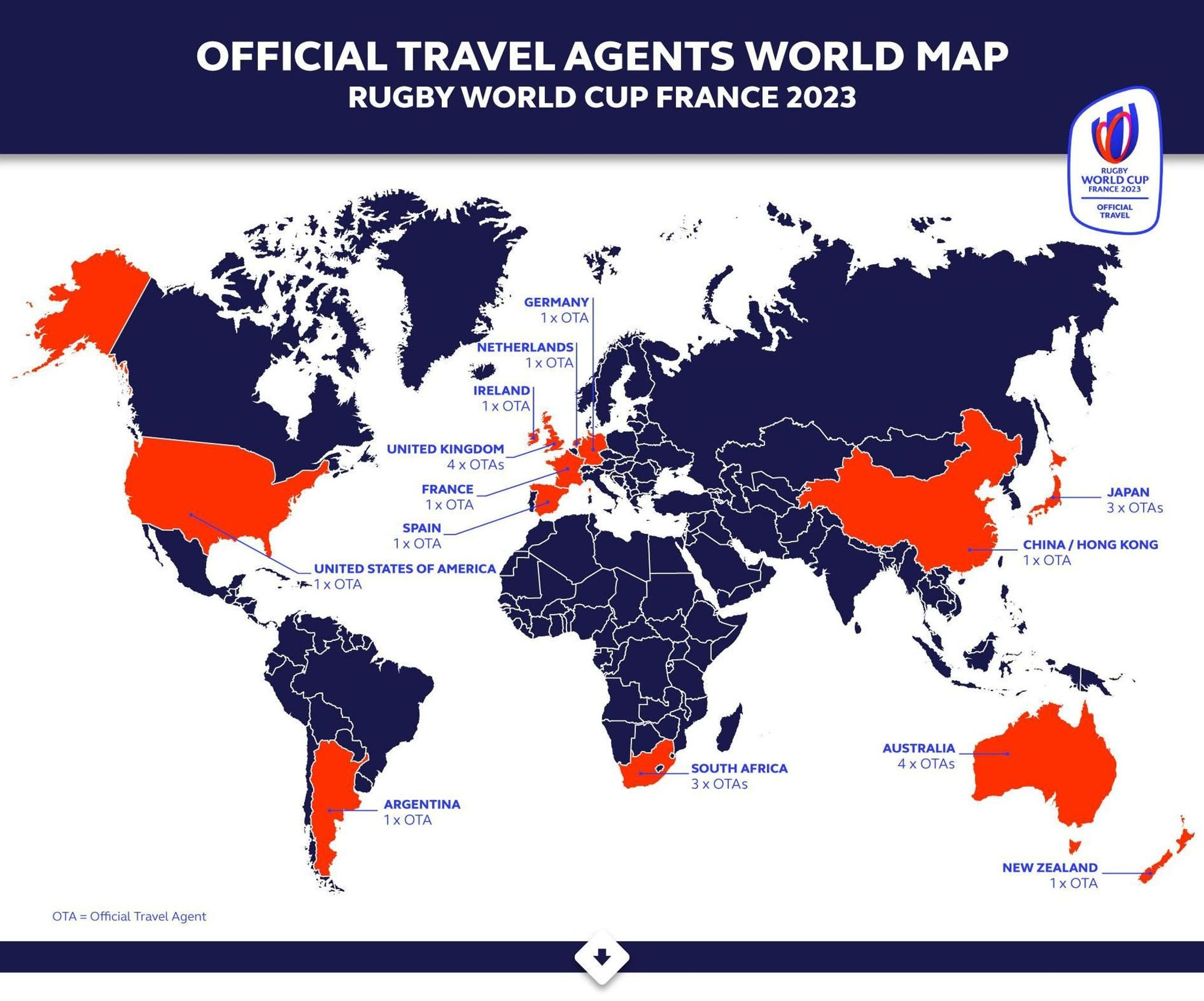 Rugby World Cup Agent Territories