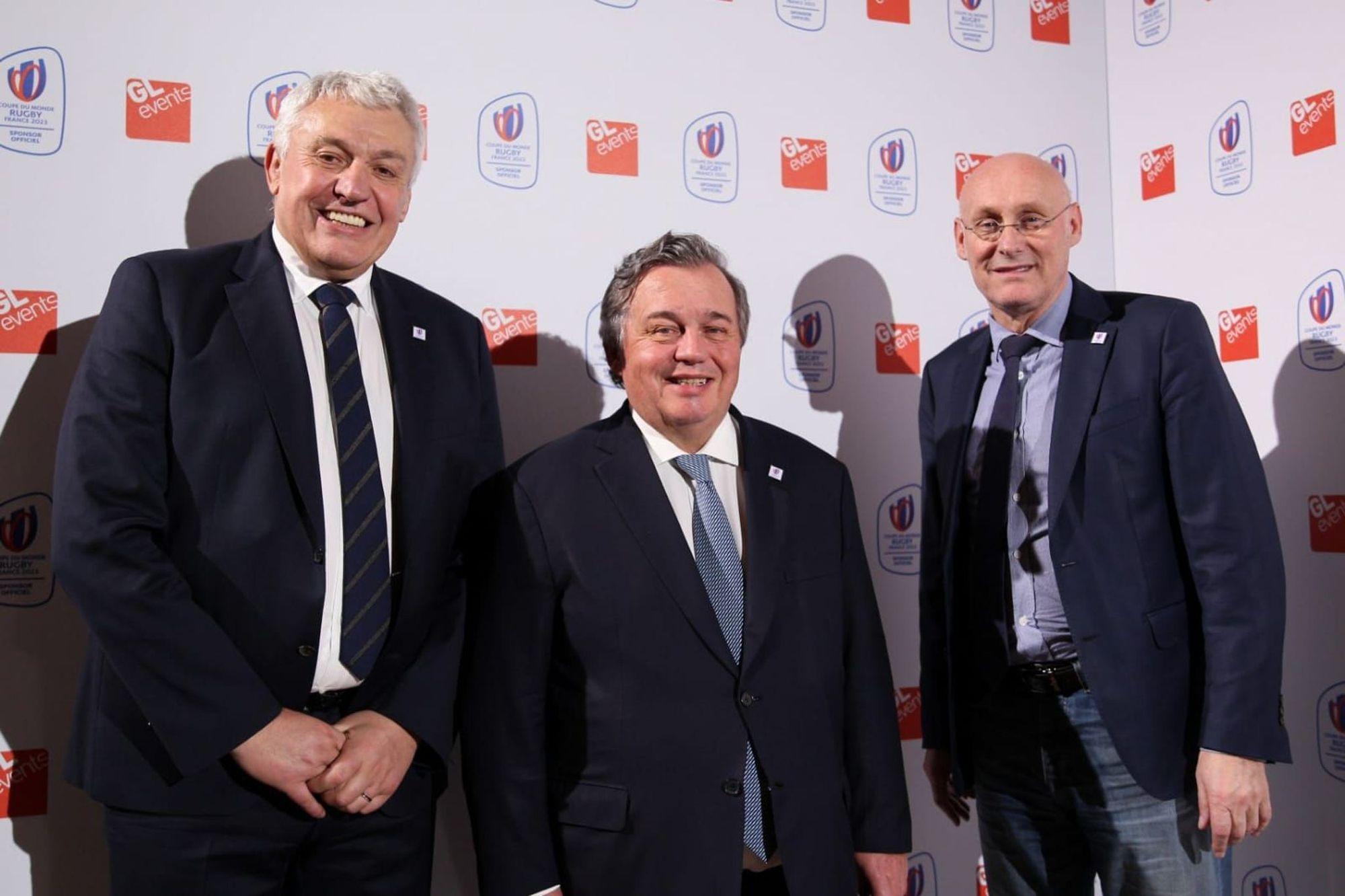 Claude Atcher, Bernard Laport, Olivier Ginon, GL Events, RWC